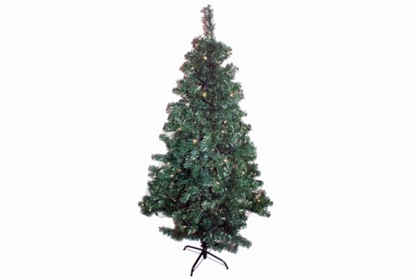 Weihnachtsbaum 180 cm mit 100er LED-Lichterkette warmweiß innen+außen Brauns Heitmann 87018