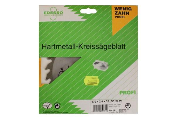 Hartmetall-Kreissägeblatt Wenigzahn Typ 170 Profi-HW (HM) 150x170x30 EDESSÖ