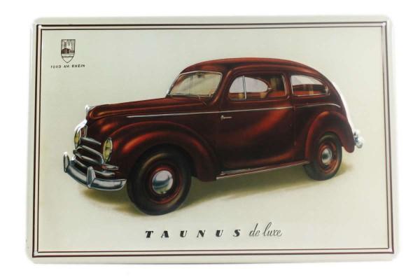 Blechschild 30x20 cm TAUNUS de luxe Metallschild im Retro-Look