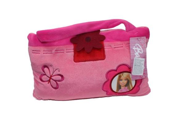 BARBIE Kissen 30x20 cm Kuschelkissen Plüsch Dekokissen rosa-pink mit Henkel