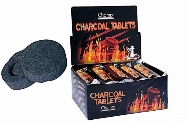100 Stück Kohle-Tabs 10x10er Karton für Shisha/Wasserpfreife 100 Stück CHAMP