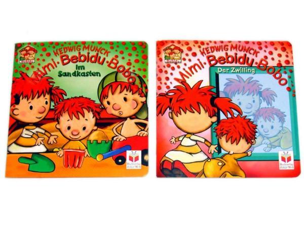 2 x Mimi Bebidu Bobo Kinderbuch Im Sandkasten&Der Zwilling Pappbuch, Bilderbuch, Babybuch