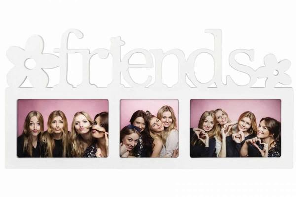 FRIENDS Collage Galerierahmen Bilderrahmen 44 x 21 cm Fotogalerie 3 Fotos HAMA