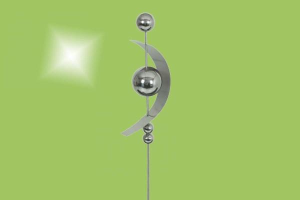 Gartenstecker ANTARIS 100cm Edelstahl Kugel/Bogen Terrasse Garden Pleasure 507189