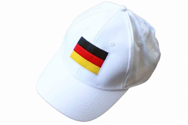 Basecap Baseballcap weiß Deutschland WM/EM Fußball Fanartikel Klettverschluss