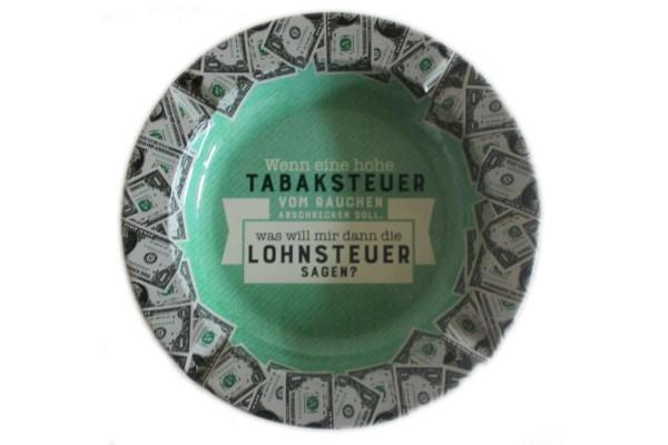 Aschenbecher Tabaksteuer-Lohnsteuer Blech Ø 14x1,5 cm Sheepworld GRUSS & CO 46159
