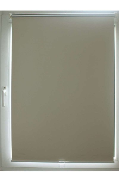 2er Clever Fix Verdunklungsrollo Klemmrollo Fenster-Rollo 70x150 bzw. 66x150cm Alu/creme