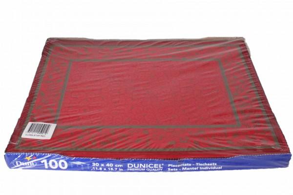 100 Platzmatten 30x40 Dunicel Weihnachten Platzset DUNI Motiv: Class. Star Red