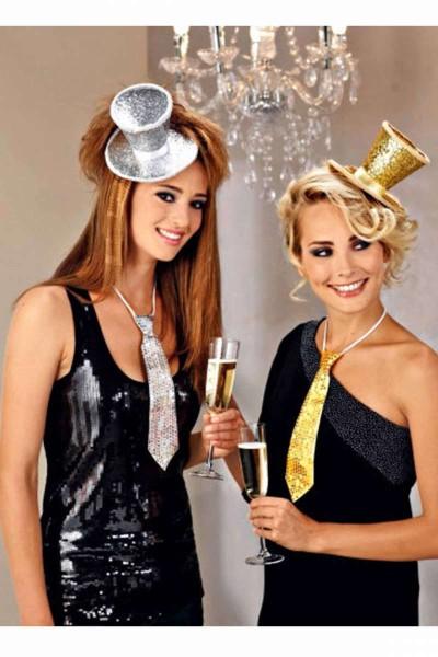 Partyhüte 4er Set Zylinder Partyhütchen Haarschmuck Tischdeko Glitzer WELTBILD 5569561