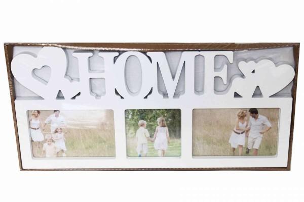 HOME Collage Galerierahmen Bilderrahmen 44 x 21 cm Fotogalerie 3 Fotos HAMA