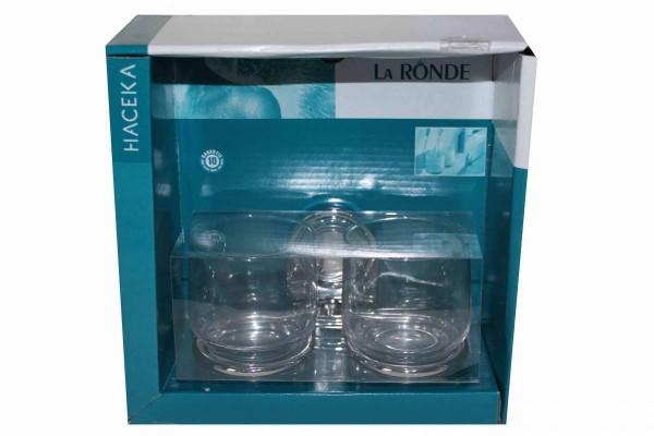 Doppel-Becherhalter 2 Zahnputzbecher aus Glas La Ronde HACEKA 403608