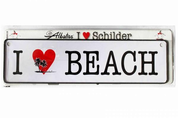 ALBATROS Blechschild mit Spruch Schild 26 x 7 cm Fun-Schild Geschenk I Love...