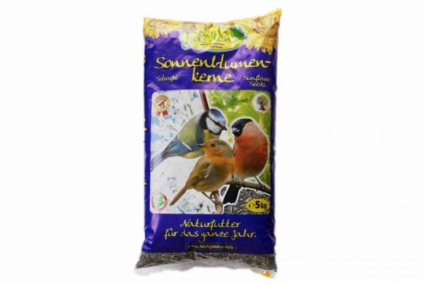 Sonnenblumenkerne schwarz 5kg Wildvogelfutter Winter-Vogelfutter Birds Garden MHD 6/2022