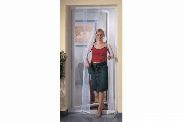 Fliegengitter-Türvorhang Insektenschutz Fliegennetz Tür weiß 95x215cm WINDHAGER 03790