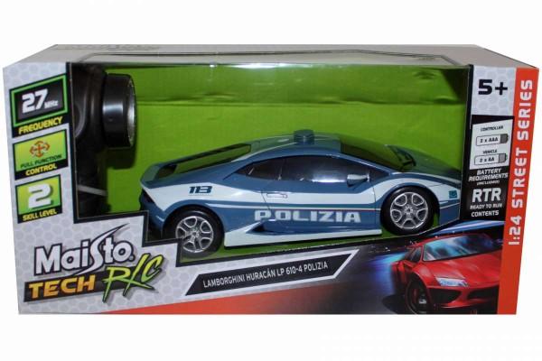 Maisto Lamborghini Huracan LP 610-4 Polizia 1:24 Tech RC Auto ferngesteuert 81159