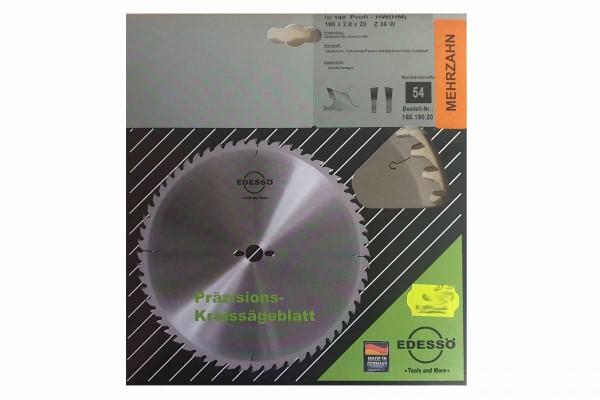 Präzisions-Kreissägeblatt Mehrzahn Typ 160 Profi-HW (HM) 160.190.20 EDESSÖ