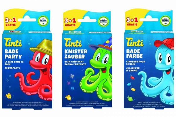 3er Set TINTI Badespaß 12 Teile Badefarbe+Badeparty+Knisterzauber