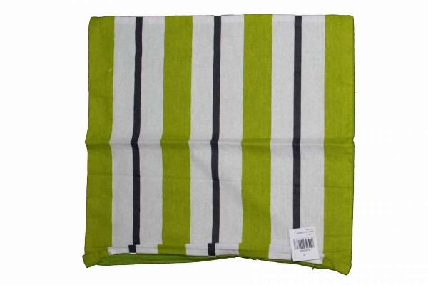 Kissenhülle 40x40 2 Designs grüne Streifen grün-gestreift Baumwolle Reißverschluss