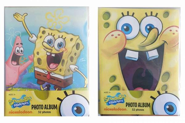 24 x Fotoalbum/Einsteckalbum SpongeBob Schwammkopf für 32 Fotos 10x15