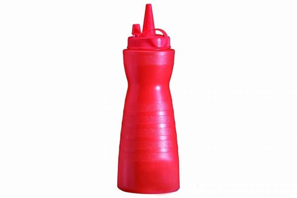 Quetschflasche rot für Ketchup 700 ml Ø 8 cm Höhe 24,5 cm 0,7 l APS 93244
