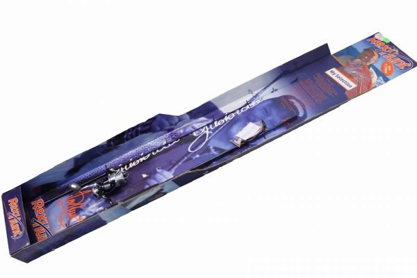 Hochwertige Hochsee-Angel Spinnrute mit Rolle 210 cm schwarz blau REX HUNT