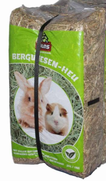 Bergwiesenheu für Nager Heu Bergwiese 30 Liter/1 kg Meerschweinchen WILMS