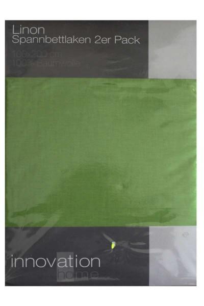 Doppelpack Linon Spannbettlaken 2er Pack 100x200 cm Bettlaken Spannbetttuch