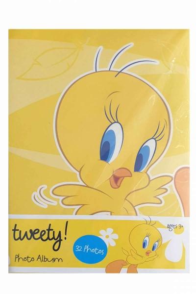 Fotoalbum/Einsteckalbum Tweety für 32 Fotos 10x15 Looney Tunes
