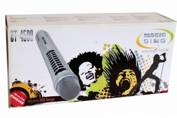 MAGICSING All-in-Karaoke-System Mikrofon, Mikrofonständer, Tragetasche, 200 Songs ET4500