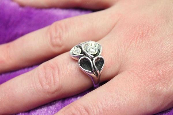 Ring Layla mit Zirkonia 925er Silber größenverstellbar Carla Mutoni