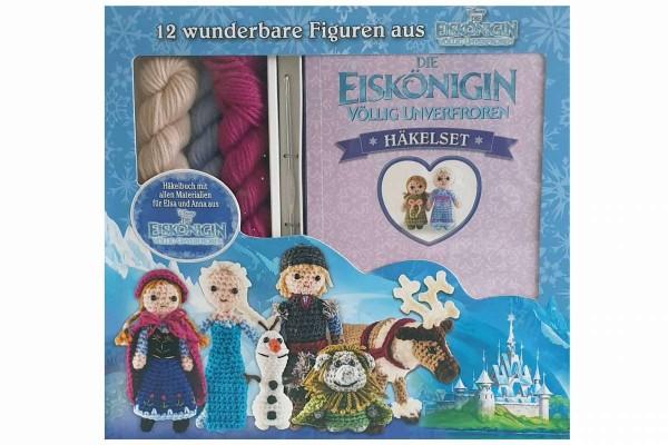 Die Eiskönigin Anna und Elsa-Häkelset 12 Figuren aus Frozen Häkelbuch+Zubehör DISNEY
