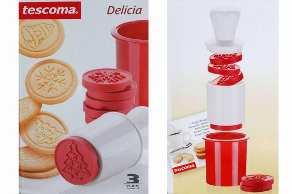 8tlg. Plätzchenstempel Weihnachtsmotiv Keks-Stempel Delicia TESCOMA 630114
