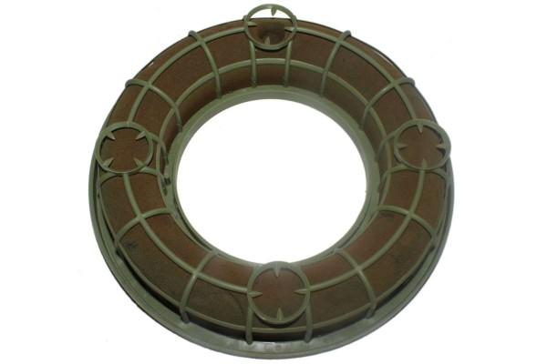 Steckkranz 20 cm Steckschwamm Steckschaum-Ring mit Gitter und 4x Kerzenhalter