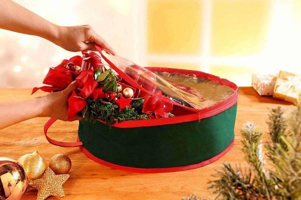 Aufbewahrung für Adventskranz Kranz Weihnachtskranz Tasche Schutzhülle Kranzgarage WELTBILD