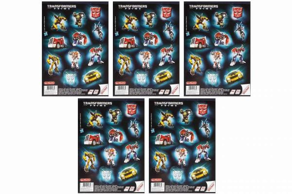5 x Malblock A4 á 50 Blatt Transformers + Sticker Zeichenblöcke HERLITZ 11307352