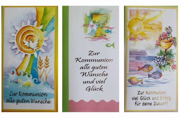 25 x 3er Pack Kommunionskarten mit Briefumschlag Grußkarten zur Kommunion SusyCard