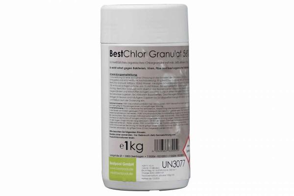 Best Chlorgranulat mit 56 % aktiven Chlor 1 kg Dose Granulat Bestpool 122601