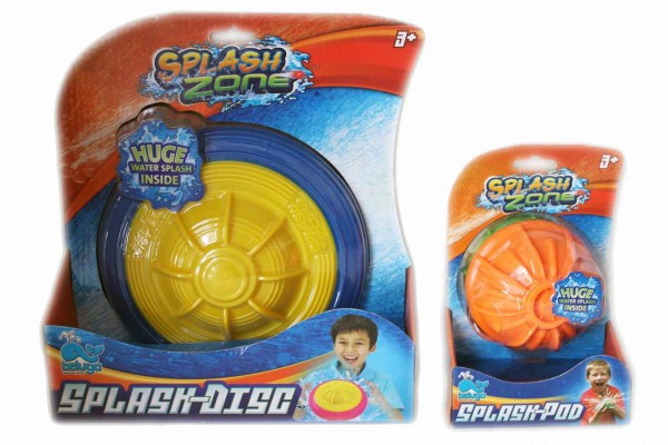 Splash Zone Splash-Disc + Pod Wasserspielzeug Ball+Frisbee beluga 78201+78202