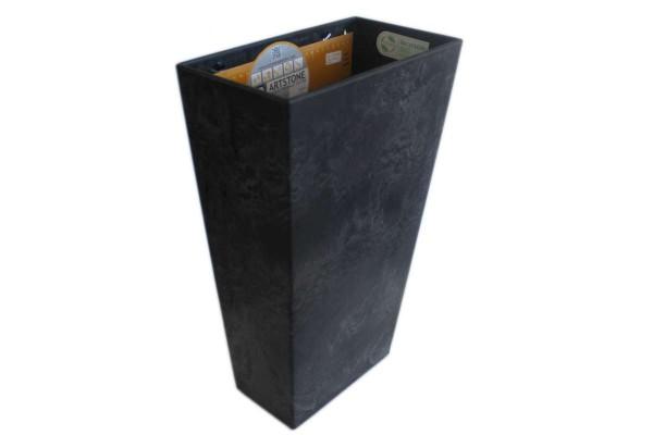 Pflanztopf Ella schwarz Wandhänger 30x17x49 cm Erdbewässerung ARTSTONE 128233