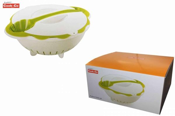 4-teiliges Pasta-Set grün 4 Teile Sieb+Schüssel+Löffel+ Deckel BergHOFF Cook&Co 2800108