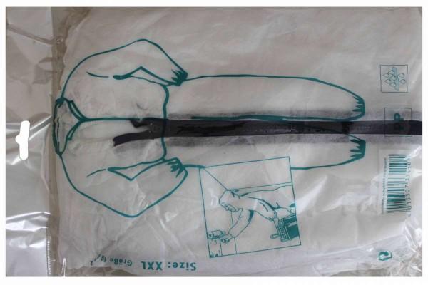 Einwegoverall Maleranzug Einweg Overall Anzug Schutz weiß PP Gr. XXL 60/62
