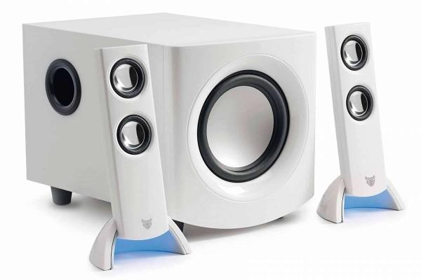 Subwoofer-Sound-System 2.1 Neto W Speaker 12W weiss Lautsprecher bezoo Vivanco