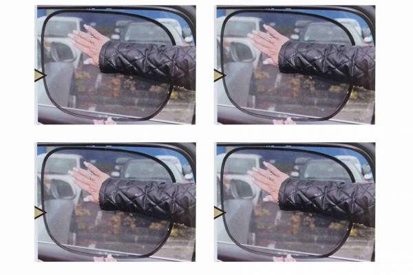 2x Sonnenblende Antistatik vollflächig haftend ohne Saugnäpfe Doppelpack 4 Stück