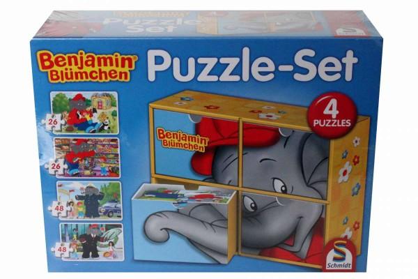 Puzzle-Set Benjamin Blümchen 4 Puzzle Schmidt Spiele 56502