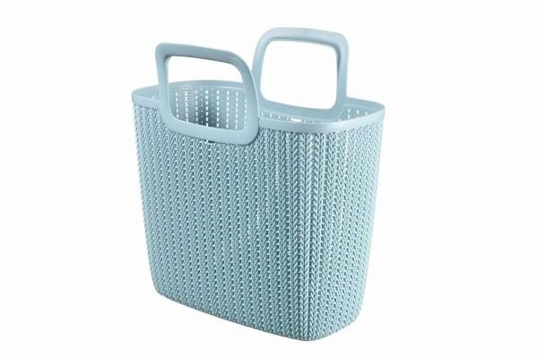 KNIT Einkaufskorb Einkaufstasche Lily Shopper blau/misty blue 25 Liter CURVER 226383