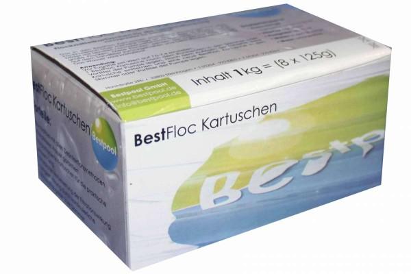Best Flock Kartuschen 1 kg Flockmittelkartuschen 8x125g Sandfilter Bestpool 151501