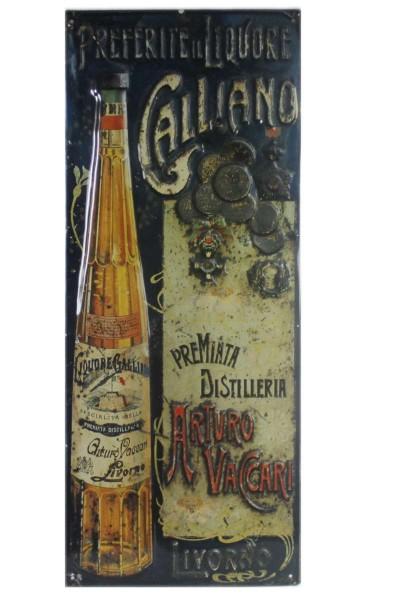 Blechschild 56x24 cm Galliano Liquore Metallschild im Retro-Look