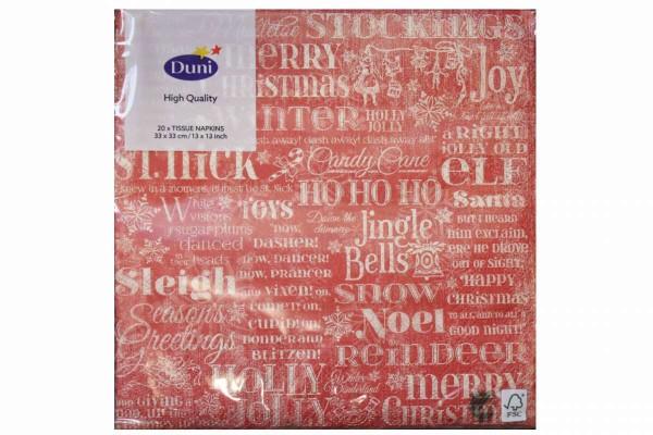 20er Pack Marken Servietten 33x33 Gastro Weihnachten tolle Motive freie Wahl