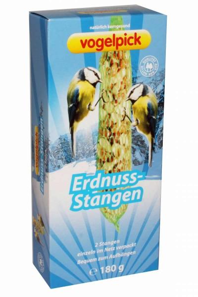 Erdnuss-Stangen 2er 180g Winter-Vogelfutter MHD 12/2022 VOGELPICK