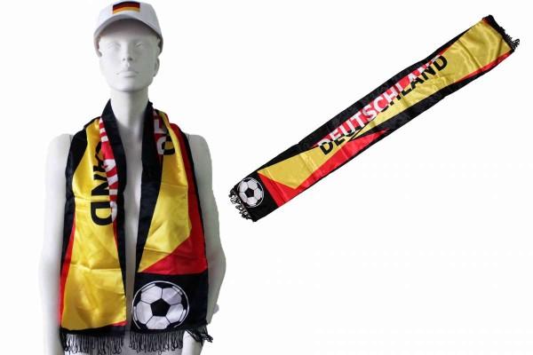 12 x Fanschal Schal schwarz-rot-gold Deutschland WM EM Fußball Fanartikel 12er Pack
